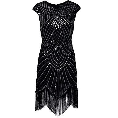 Latin Dance Dresses Women's Performance Spandex Tassel / Paillette Sleeveless Natural Dress