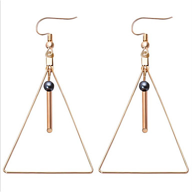 Women's Hoop Earrings Imitation Pearl Alloy Jewelry White Blue Wedding Office & Career Costume Jewelry