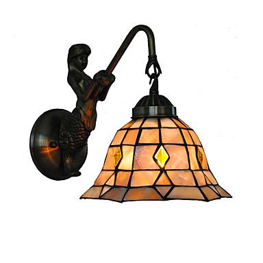 átmérő 20cm retro hableány tiffany fali lámpák burkolat árnyékában nappali hálószoba lámpatest