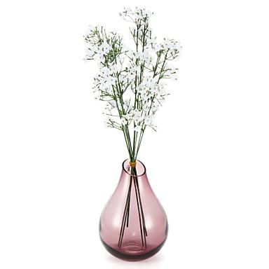 Kunstige blomster 1 Gren Enkel Stil Planter Bordblomst