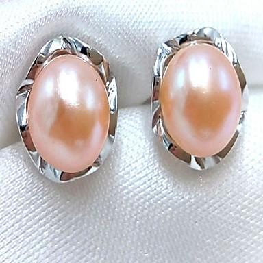 Női Gyöngy Beszúrós fülbevalók / Függők - Rózaszín gyöngy, Szürke gyöngy minimalista stílusú, Divat Szürke / Bíbor / Rózsaszín Kompatibilitás Napi / Hivatal és karrier