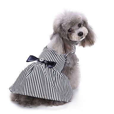 Cat Dog Coat Tuxedo Dress Dog Clothes Stripe Stripe Cotton Costume For Pets Party Casual/Daily Wedding Christmas