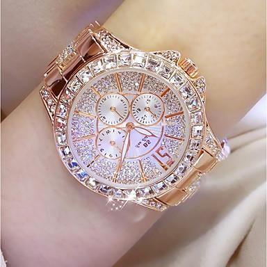 f5a16ebc86ff7 رخيصةأون مجوهرات-نسائي الساعات الفاخرة الماس ووتش ساعة ذهبية ياباني كوارتز  ستانلس ستيل فضة