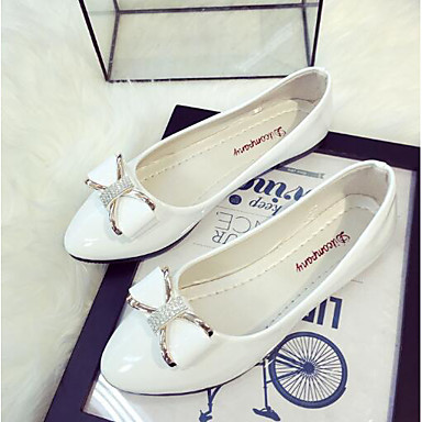 abordables Zapatos de Mujer-Mujer Bailarinas Pajarita Cuero Patentado Bailarina Primavera / Verano Negro / Rosa / Almendra / EU39
