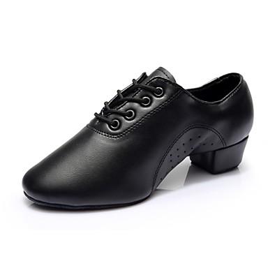 Férfi Modern cipők Műbőr Sportcipő / Kétrészes talp Vaskosabb sarok Személyre szabható Dance Shoes Fekete