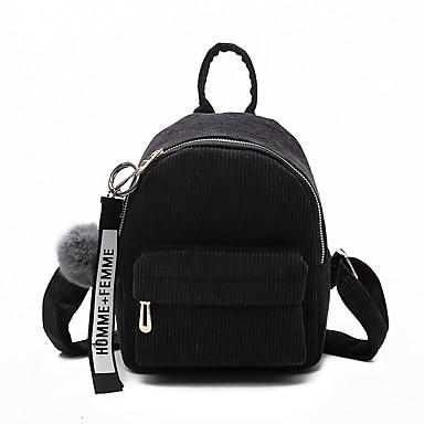 povoljno Ruksaci-Žene Patent-zatvarač ruksak ruksak Velvet Crn / Blushing Pink / Jesen zima