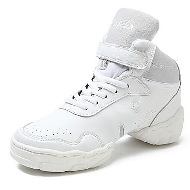 Férfi Tánccipők Bőr Kétrészes talp Személyre szabott sarok Személyre szabható Dance Shoes Fehér