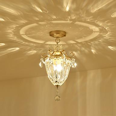 3-Light Flush Mount Ambient Light - Crystal, 110-120V / 220-240V, Warm White, Bulb Not Included / 5-10㎡