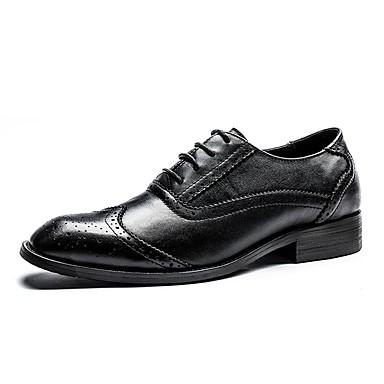 בגדי ריקוד גברים נעליים פורמליות עור / עור נאפה Leather סתיו / חורף נוחות / נעליים פורמלית נעלי ספורט שחור / בורדו / מסיבה וערב