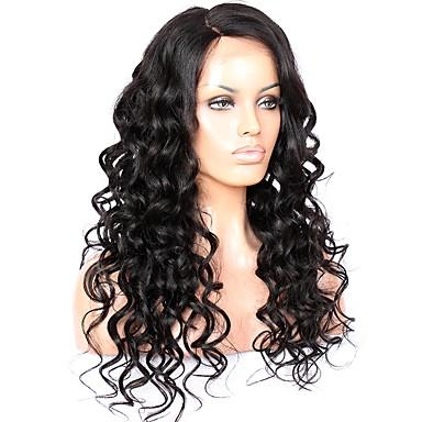 Włosy remy Koronkowy przód Peruka Włosy brazylijskie Falisty 130% Gęstość Z Baby Hair Nieprzereagowany Peruka afroamerykańska Krótki Długo