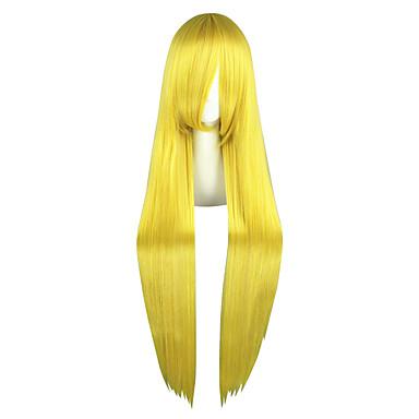 Недорогие Парик из искусственных волос без шапочки-Парики из искусственных волос Естественные прямые Стиль Без шапочки-основы Парик Блондинка Блондинка Искусственные волосы Жен. Блондинка Парик Длинные Парики для косплей