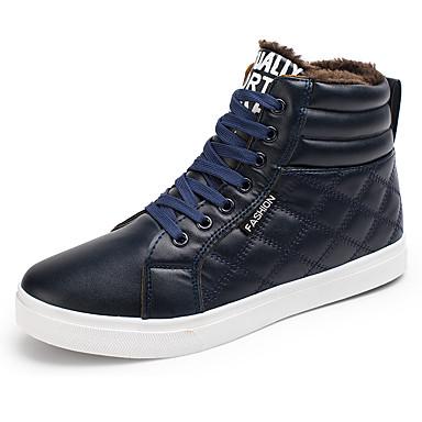 Herren Schuhe PU Herbst Komfort Sneakers Schnürsenkel Für Normal Schwarz Gelb Blau