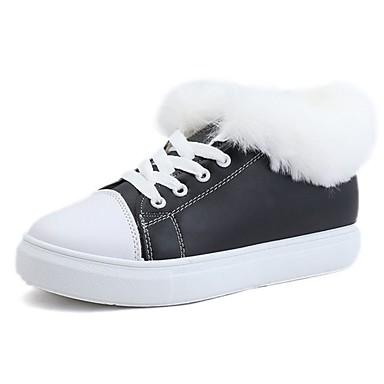 Damskie Guma Zima Wygoda Adidasy Okrągły Toe Biały / Czarny