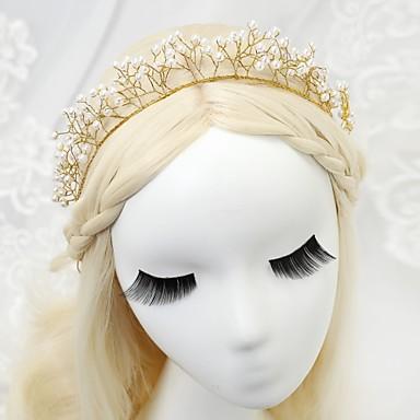 Sztuczna perła Opaski na głowę z 1 szt. Ślub / Specjalne okazje Winieta