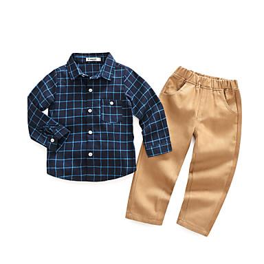 Brzdąc Dla chłopców Na co dzień Pled Długi rękaw Bawełna Komplet odzieży