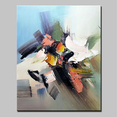 Hang-Malowane obraz olejny Ręcznie malowane - Streszczenie Prosty Nowoczesny Brezentowy