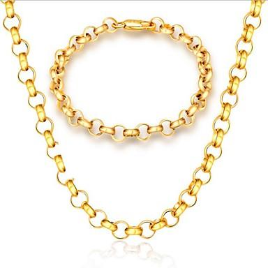 Męskie Biżuteria Ustaw Zestawy biżuterii - Pozłacane Gold