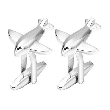 voordelige Herensieraden-Manchetknopen Vliegtuig Romantisch Broche Sieraden Zilver Voor Verloving