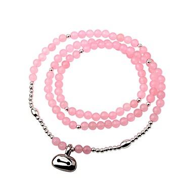 Damskie Bransoletki Wrap Bransoletki Strand Kryształ Klasyczny Słodkie Kryształ Circle Shape Biżuteria Codzienny Wyjściowe Biżuteria