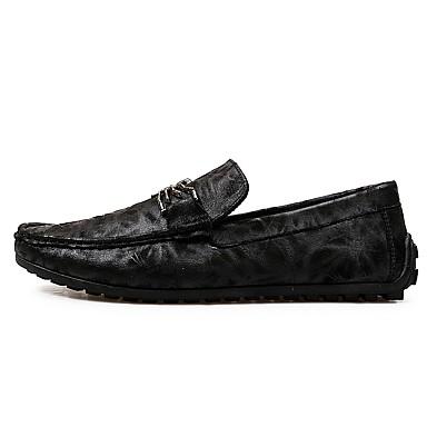 Herren Schuhe PU Frühjahr, Herbst, Winter, Sommer Mokassin Loafers & Slip-Ons Für Normal Schwarz Gelb Khaki