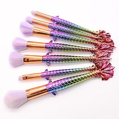 7 szt Profesjonalny Pędzle do makijażu Zestawy Brush Włosie synetyczne Ekologiczne / Pełne pokrycie Powierzchnia nieprzywierająca