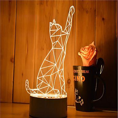 1 satz von 3d stimmung nachtlicht hand gefühl dimmbare usb powered geschenk lampe katze