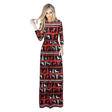 Renifer Jednoczęściowy Sukienki Świąteczna sukienka Festiwal/Święto Kostiumy na Halloween Black