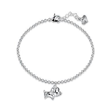 Damen Ketten- & Glieder-Armbänder Armband Einfach Retro Grundlegend Elegant Hiphop Süß Kupfer versilbert Geometrische Form Schmuck Für