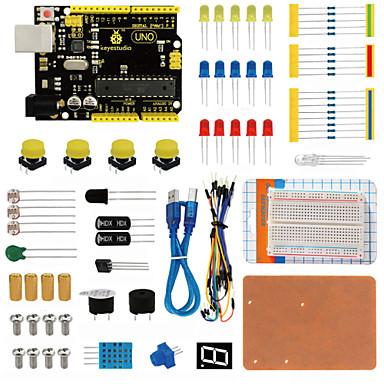 Keyestudio uno r3 karkötő készlet arduino indítóhoz dupont wireledresistorpdf-vel