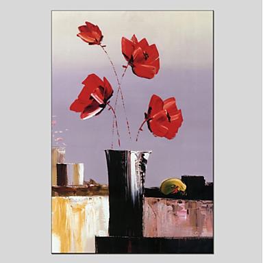 Handgemalte Blumenmuster/Botanisch Sonstiges Ein Panel Leinwand Hang-Ölgemälde For Haus Dekoration