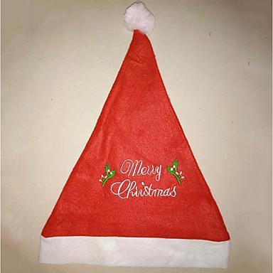 Święto Kostiumy Św. Mikołaja Christmas Hat Czerwony Włókniny Akcesoria do cosplay Boże Narodzenie