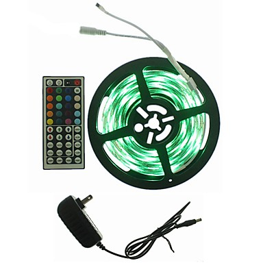 SENCART 5m Light Sets 300 LEDs RGB Remote Control / RC / Cuttable / Dimmable 100-240V 1set / IP65 / Linkable / Self-adhesive / 2835 SMD