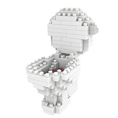 Klocki 119pcs Meble Kreskówka DIY Słodkie Style Słodkie Deska toaletowa z otwartym frontem Dla chłopców Zabawki Prezent