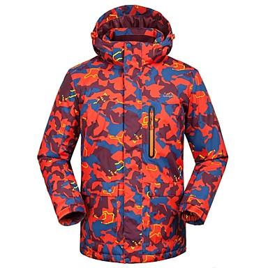 Męskie Kurtka narciarska Keep Warm, Wiatroodporna, Narciarstwo Narciarstwo Poliester Kurtka zimowa Odzież narciarska