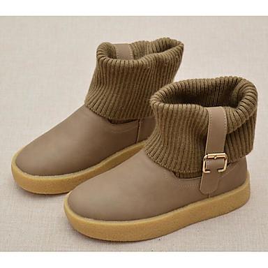Jungen Schuhe Kunstleder Herbst Winter Komfort Springerstiefel Stiefel Für Normal Schwarz Purpur Kamel