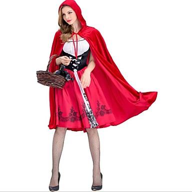 Czerwony Kapturek Kostiumy Cosplay Kostium imprezowy Damskie Boże Narodzenie Halloween Karnawał Nowy Rok Festiwal/Święto Kostiumy na