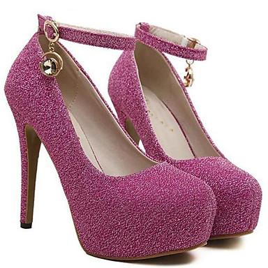 Noir Chaussures Confort Violet Paillette Basique Habillé 06384837 Talons Chaussures à Escarpin Automne Printemps Femme Claire Argent xAIdfvI