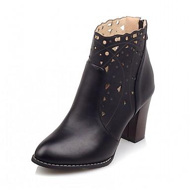 Damen Schuhe PU Kunstleder Winter Stiefeletten Neuheit Komfort Stiefel Runde Zehe Booties / Stiefeletten für Party & Festivität Kleid