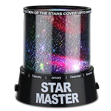 Starry Night Light Star Light LED-valaistus Projektorin lamppu Yövalo Makuuhuoneen sänkyvalo Lelut Värikäs Twilight Star Light projektori