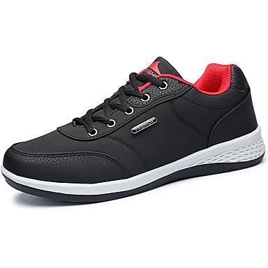 Męskie Buty Syntetyczny Microfiber PU / PU Wiosna / Jesień Comfort Buty do lekkiej atletyki Bieganie Dark Blue / Gray / Black / Red