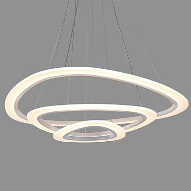 nowoczesny akrylowy trójkąt prostota led wisiorek światła trzy pierścienie wnętrze światło dla biura salon sypialnia restauracja