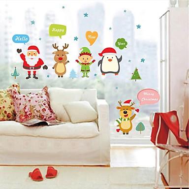 Zwierzęta Święta Bożego Narodzenia Naklejki Naklejki ścienne lotnicze Dekoracyjne naklejki ścienne, Winyl Dekoracja domowa Naklejka