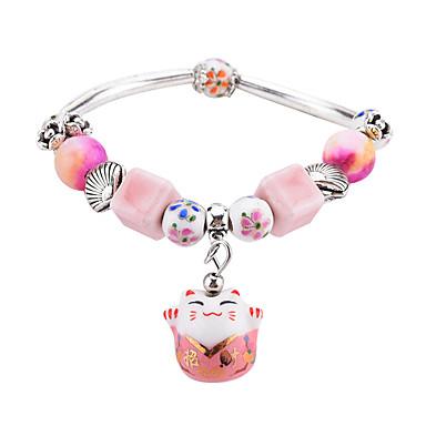 Damen Ketten- & Glieder-Armbänder Onyx Modisch China Korallenrot Aleación Geometrische Form Schmuck Für Schultaschen Ausgehen