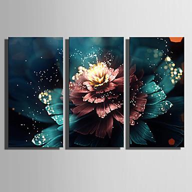 LED canvas-taide Kasvitiede 3 paneeli Pysty Painettu Wall Decor Kodinsisustus