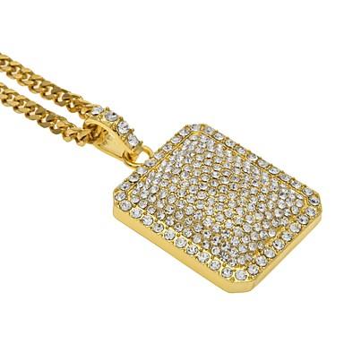 povoljno Modne ogrlice-Muškarci Žene Sticky dijamanata Ogrlice s privjeskom Rock Hip-hop Legura Zlato Pink Ogrlice Jewelry Za Vjenčanje Stage Maškare Zaručnička zabava Prom Klub