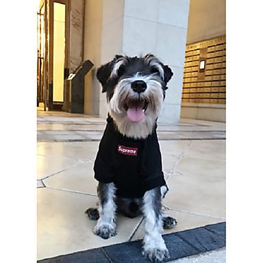 Hund T-shirt Hundekleidung Solide Schwarz Baumwolle Kostüm Für Haustiere Herrn / Damen Stilvoll / Modisch