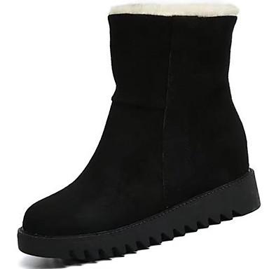 Damskie Obuwie PU Zima Comfort Śniegowce Buciki Okrągły Toe Kozaczki / kozaki do kostki na Casual Black Gray Yellow