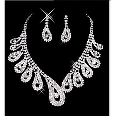 Damskie Biżuteria Ustaw - Zawierać Kolczyki drop Naszyjniki Biały Na Ślub Impreza