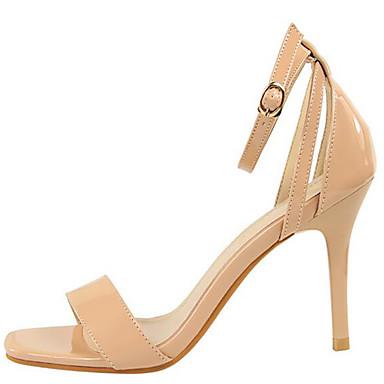 Femme Evénement Eté Amande Cuir Sandales Verni amp; Chaussures ouvert Automne Gladiateur Rouge 06390599 Confort Soirée Argent Bout ZqxtgZwrAn