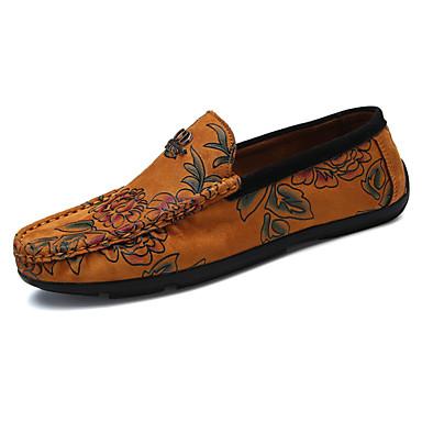 Herren Schuhe PU Frühling Herbst Komfort Loafers & Slip-Ons Für Schwarz Gelb Rot Blau